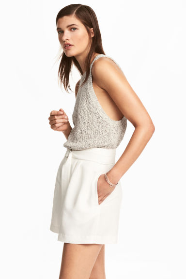 High-waisted shorts - White - Ladies | H&M 1