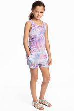 Jersey playsuit - Pink/Purple -  | H&M 1