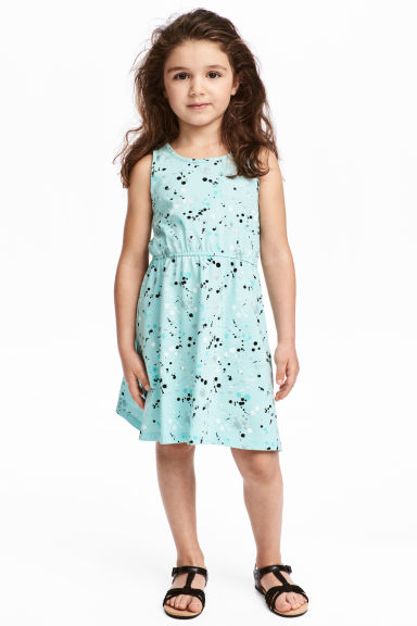 Jersey dress - Light turquoise - Kids | H&M 1