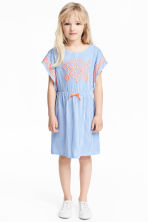 Jersey dress with print motif - Blue/White/Striped -  | H&M 1