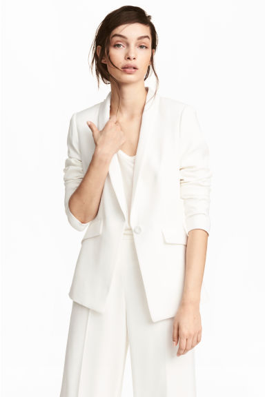 Fitted jacket - White - Ladies | H&M
