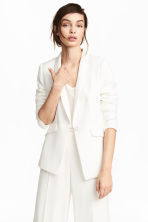 Fitted jacket - White - Ladies | H&M GB 1