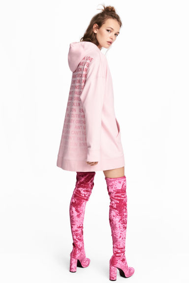 Oversized hooded top - Light pink -  | H&M 1