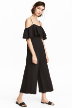 Ankle-length jumpsuit - Black - Ladies | H&M 1
