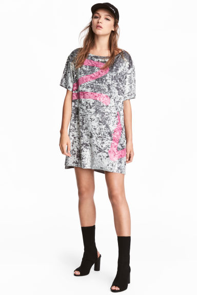 T-shirt dress - Grey -  | H&M 1