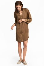 V-neck tunic - Khaki beige - Ladies | H&M 1