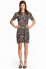 Crêpe dress - Zebra print -  | H&M CN 1