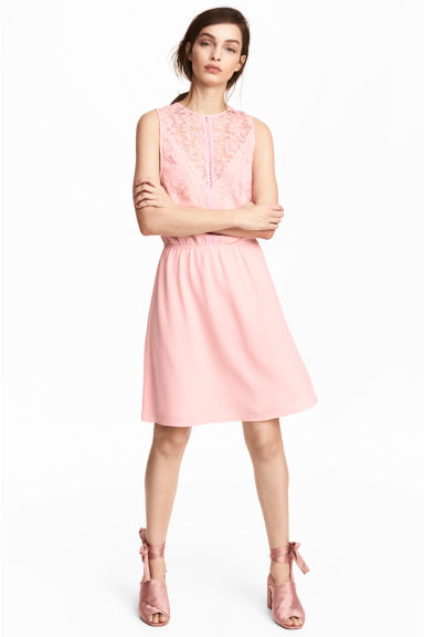 Sleeveless dress - Powder pink - Ladies | H&M 1