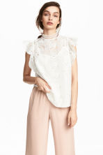 Lace blouse - White - Ladies | H&M CN 1