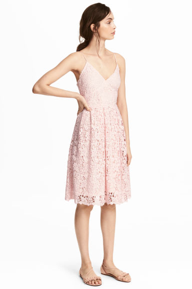 蕾絲洋裝 - Light pink - Ladies | H&M 1