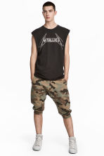 Sweatshirt shorts - Khaki/Patterned - Men | H&M 1