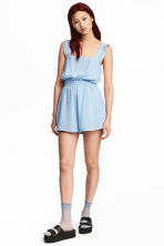 Crinkled playsuit - Light blue - Ladies | H&M CN 1