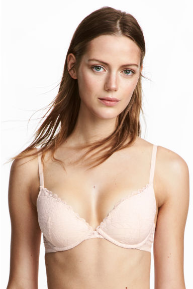 Lace push-up bra - Powder - Ladies | H&M CN 1