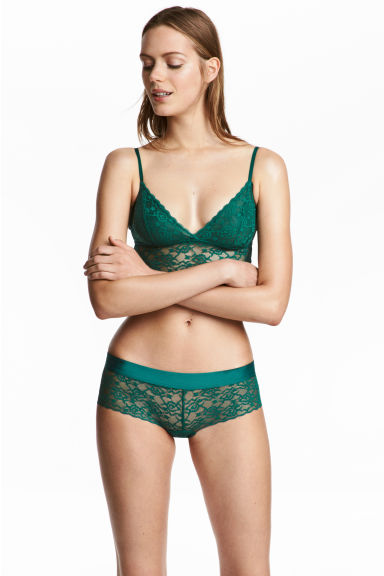 Shortie 2件入內褲 - Emerald green - Ladies | H&M 1