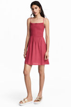 Smocked dress - Raspberry red - Ladies | H&M CA 1
