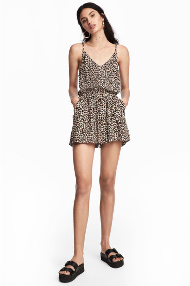 Playsuit - Leopard print - Ladies | H&M 1