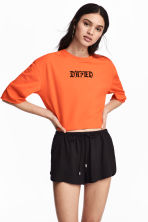 Cropped top - Orange - Ladies | H&M CN 1
