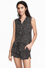 超短褲 - Black/Spotted - Ladies | H&M 1
