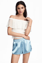 Spotted mesh top - Natural white - Ladies | H&M 1