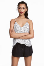 V-neck strappy top - White/Spotted -  | H&M 1