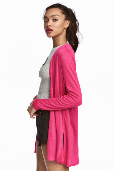 Fine-knit cardigan - Cerise - Ladies | H&M