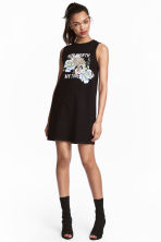 Sleeveless jersey dress - Black - Ladies | H&M 1