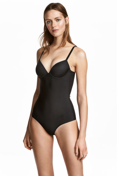 Shaping body with push-up bra - Black - Ladies | H&M 1