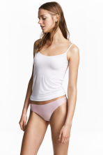2-pack Brazilian briefs - Light pink/White - Ladies | H&M 1