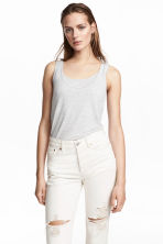 MAMA Nursing top - Light grey marl -  | H&M 1