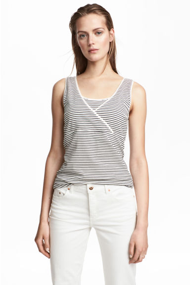 MAMA 2-pack nursing tops - White/Striped - Ladies | H&M 1