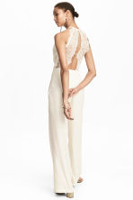 Sleeveless jumpsuit - Natural white - Ladies | H&M CN 1