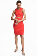 Jersey pencil skirt - Red -  | H&M CA 1