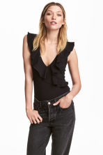 Flounced body - Black -  | H&M CN 1