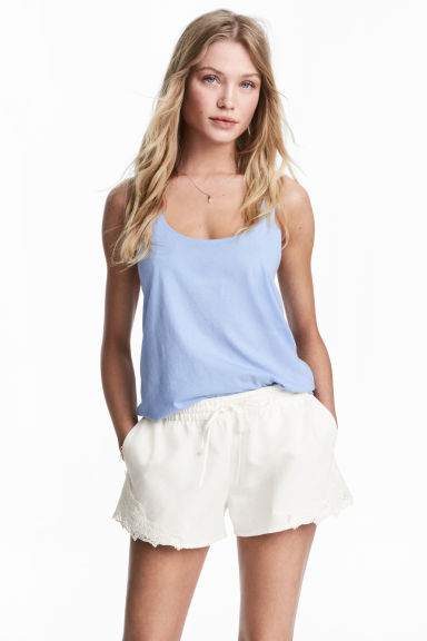Cotton jersey vest top Model