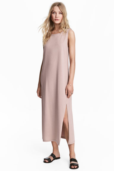 Long jersey dress - Powder pink -  | H&M 1