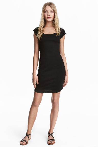 Fitted jersey dress Model