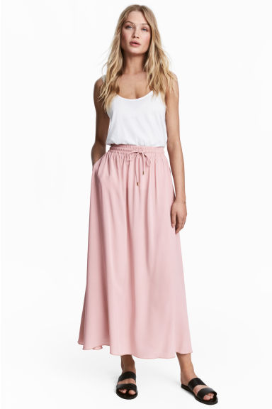 Long viscose skirt - Light pink - Ladies | H&M