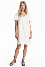 Knee-length dress - White -  | H&M 1