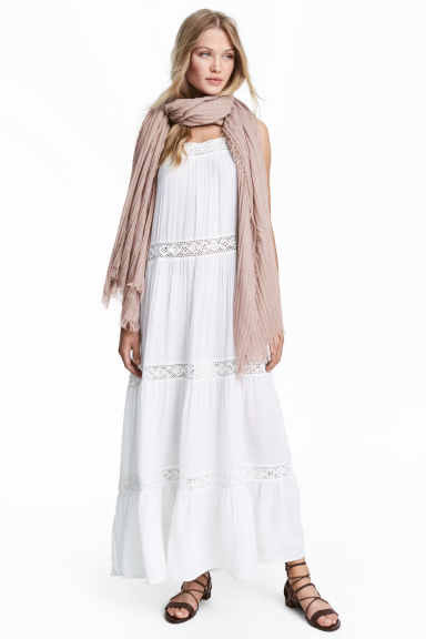 Maxi dress - White -  | H&M