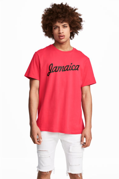 Printed T-shirt - Neon pink - Men | H&M CN 1
