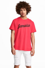 Printed T-shirt - Neon pink - Men | H&M 1