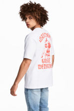Printed T-shirt - White - Men | H&M CN 1