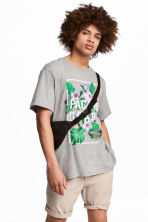 Printed T-shirt - Grey marl - Men | H&M 1