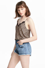 Satin strappy top - Leopard print - Ladies | H&M 1