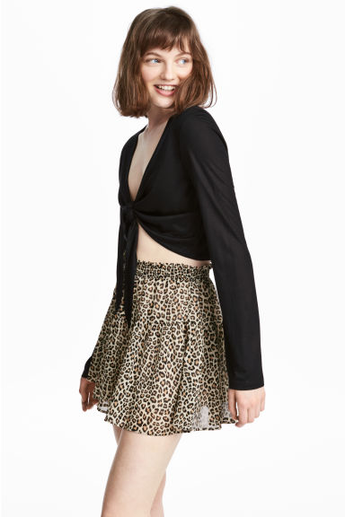 Crêpe skirt - Leopard print - Ladies | H&M GB