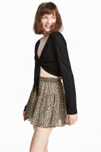 Crêpe skirt - Leopard print - Ladies | H&M IE 1