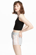 Short sweatshirt shorts - Grey marl - Ladies | H&M CN 1