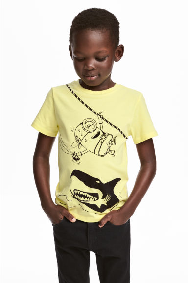 Printed T-shirt - Yellow/Minions -  | H&M CN 1