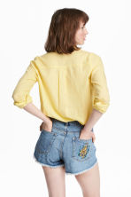 Cotton shirt - Yellow - Ladies | H&M CA 1