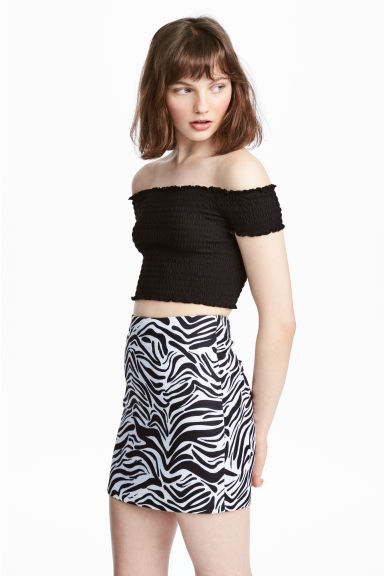 Short skirt - Zebra print - Ladies | H&M 1